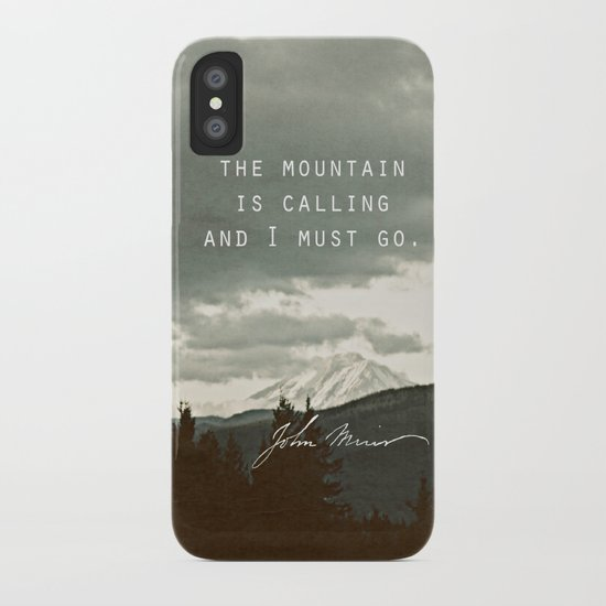 The Mountain is Calling iPhone Case