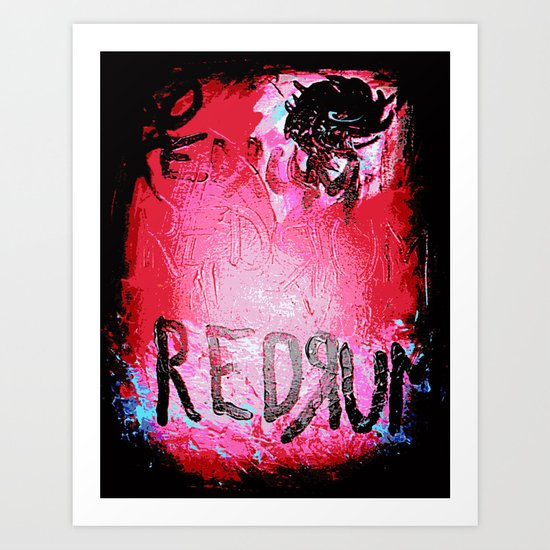 Redrum and Roses Art Print