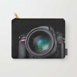 DSLR camera on black Carry-All Pouch