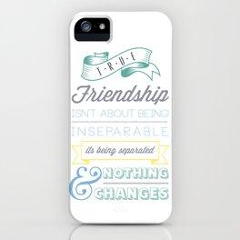 True Friendship iPhone Case