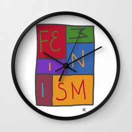 Intersectional Feminism In Colour Wall Clock