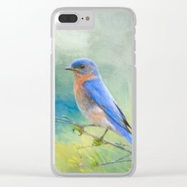 Bluebird In The Garden Clear iPhone Case
