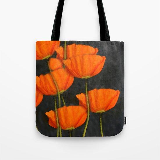 Poppies(orange). Tote Bag