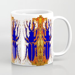 Lapis Blue Beetle on Gold Coffee Mug