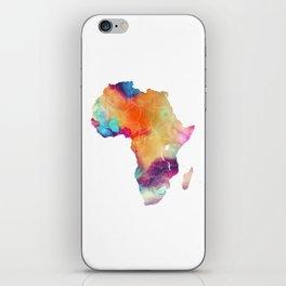 Africa Map 3 iPhone Skin