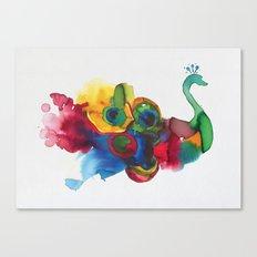 colorful peacocks Canvas Print