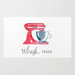 Red Stand Mixer - kitchen art, baker Rug
