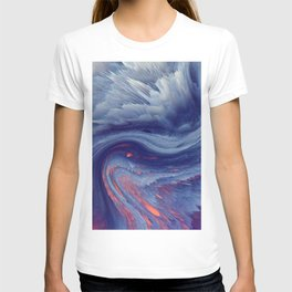 Spectacular Amazing Abstract Chrystal Color Swirl Ultra HD T-shirt