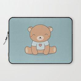 Kawaii Cute Teddy Brown Bear Laptop Sleeve