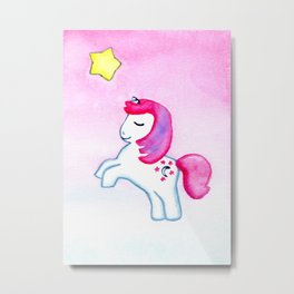 WISH UPON A STAR / MOON DANCER THE UNICORN / MY LITTLE PONY Metal Print