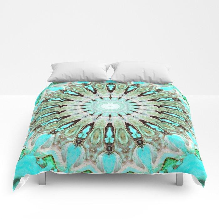 Tropical Floral Mandala Comforters