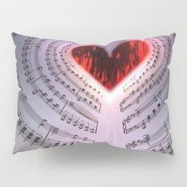 'For the Love of Music' Sheet Music Art Motif Pillow Sham