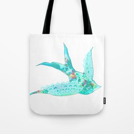 Lighter Blue Swallow Tote Bag