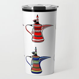 Colorful Arabia Coffee Pots Travel Mug