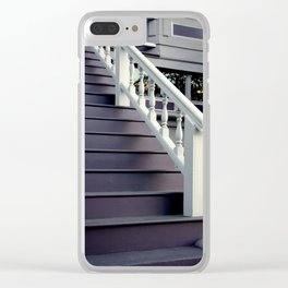 Purple Stairs With Picture Window Clear iPhone Case