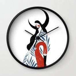 leaf heart Wall Clock