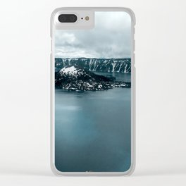 Mountain Lake View Clear iPhone Case