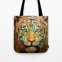 tiger Tote Bags featuring Tiger by nicebleed