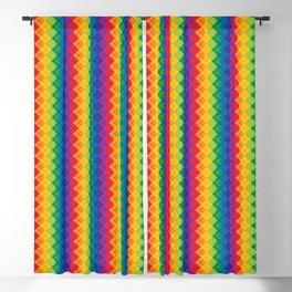 Rainbow Argyle Blackout Curtain