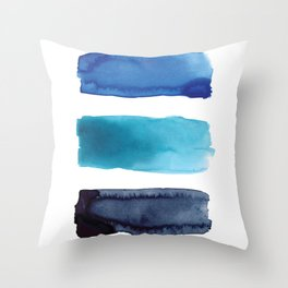 01 blues before sunrise Throw Pillow