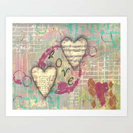 Two Hearts in Love Art Print