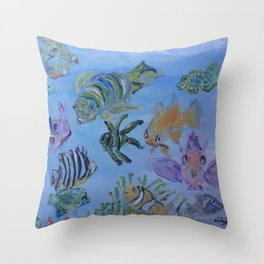 Pisces Society Throw Pillow