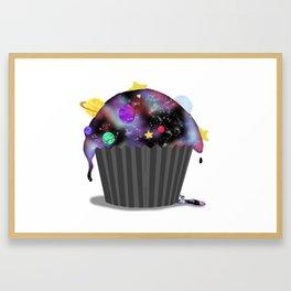 Galaxy Cupcake Framed Art Print