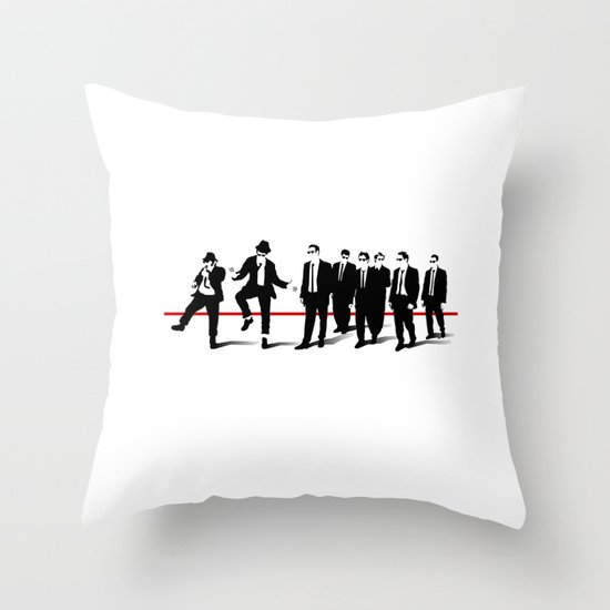 Reservoir Brothers Throw Pillow