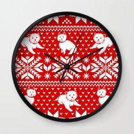Fair Isle Westies Wall Clock