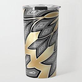 Pointillism Tribal fusion Travel Mug