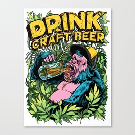 Drink Craft Beer Canvas Print