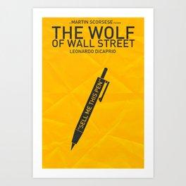 The Wolf of Wall Street - Pen Art Print
