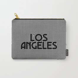 Los Angeles City Text Pattern USA Carry-All Pouch