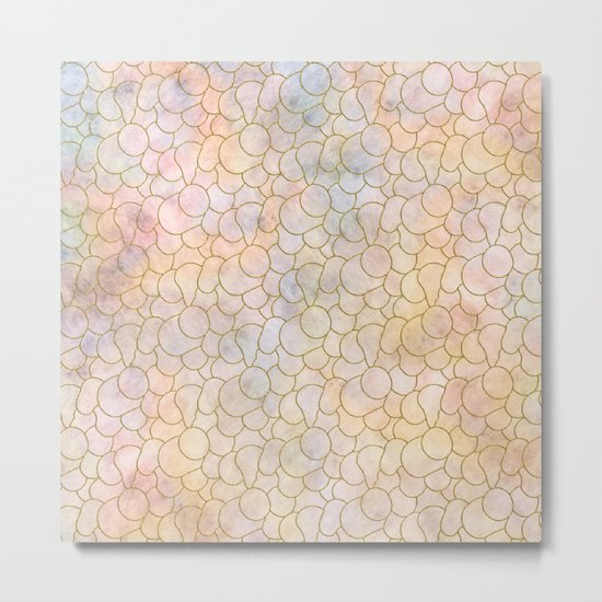 SOFT PASTELS PATTERN (abstract) Metal Print