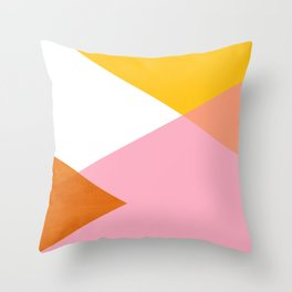 Geometrics - sorbet & orange concrete Throw Pillow