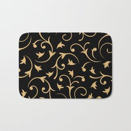 Baroque Design – Gold on Black Bath Mat
