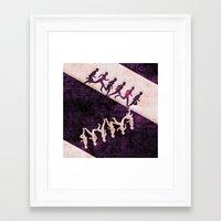 run Framed Art Prints featuring run by KrisLeov