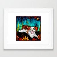 shih tzu Framed Art Prints featuring Shih Tzu by RobiniArt