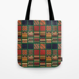 Quilt Pattern Two Tote Bag