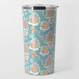 Gingerbread Houses Candy Canes Travel Mug