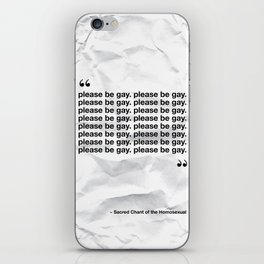 The Sacred Chant of the Homosexual iPhone Skin