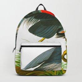 Great blue heron John James Audubon Vintage Scientific Bird Illustration Backpack