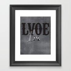 LVOE Framed Art Print