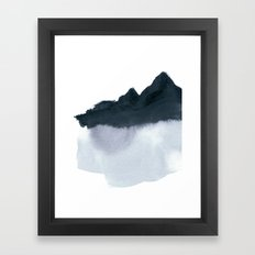 mountain scape minimal Framed Art Print