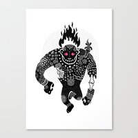 run Canvas Prints featuring RUN by Heiko Windisch