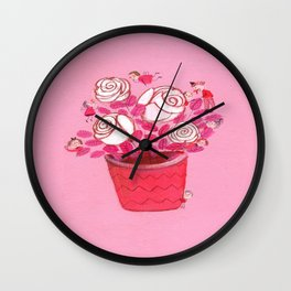Beautiful White Lilies Wall Clock