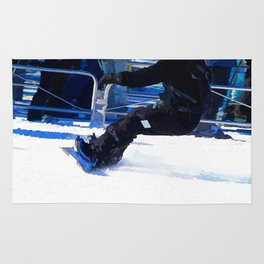 Snowboarder Skidding Winter Sports Gift Rug