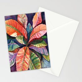 Colorful Tropical Leaves 1 Stationery Cards