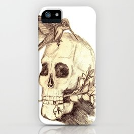 flying away with the time iPhone Case