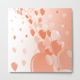 Two Tone Baloons Metal Print
